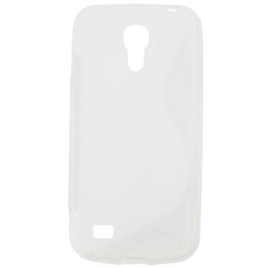 Samsung Galaxy S4 Mini - Gumiran ovitek (TPU) - belo-prosojen SLine