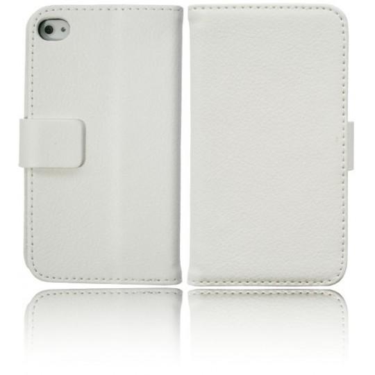 Apple iPhone 4/4S - Preklopna torbica (WL) - bela