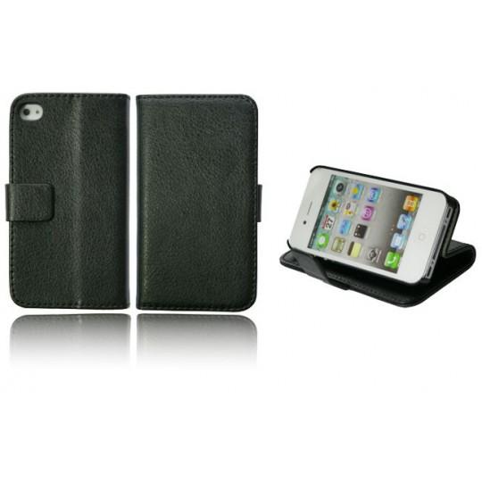 Apple iPhone 4/4S - Preklopna torbica (WL) - črna