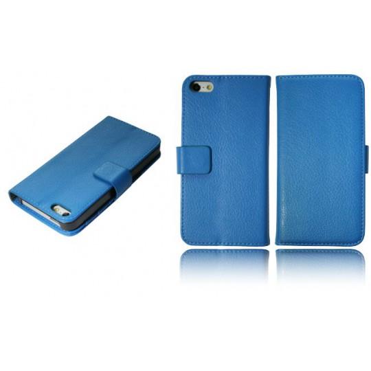 Apple iPhone 5/5S/SE - Preklopna torbica (WL) - modra