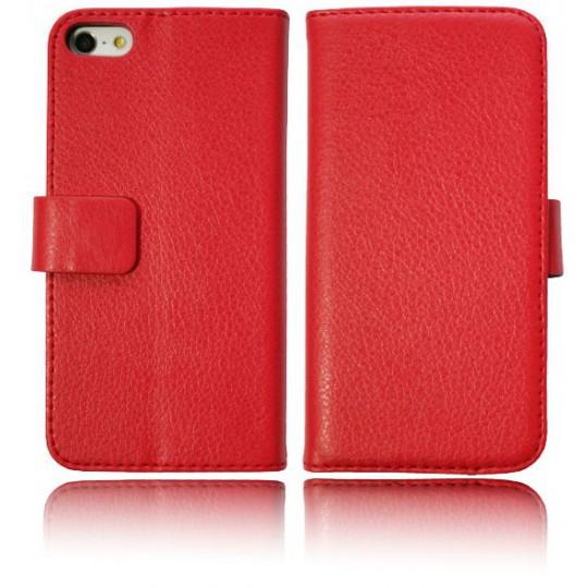 Apple iPhone 5/5S/SE - Preklopna torbica (WL) - rdeča
