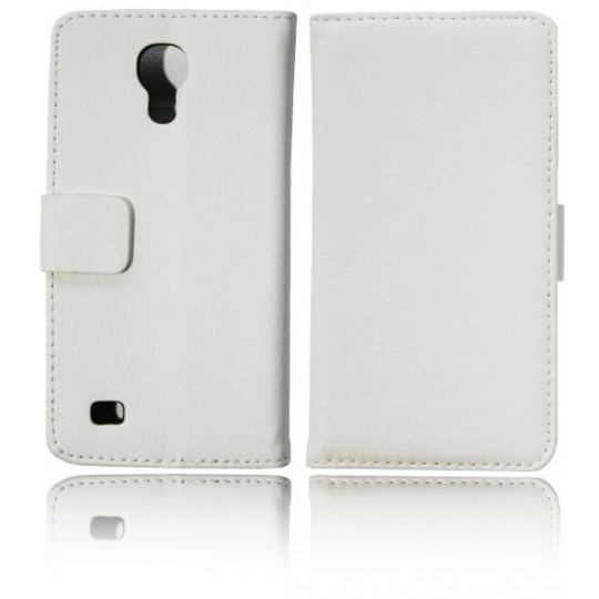 Samsung Galaxy S4 Mini - Preklopna torbica (WL) - bela