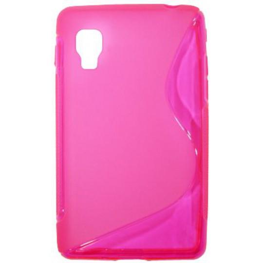 LG Optimus L4 II - Gumiran ovitek (TPU) - roza-prosojen SLine