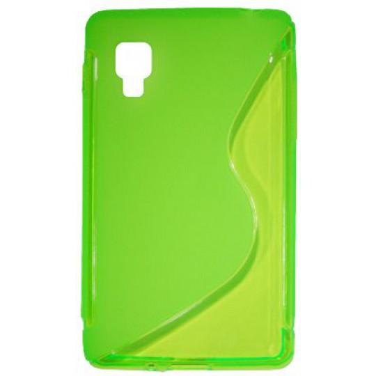 LG Optimus L4 II - Gumiran ovitek (TPU) - zeleno-prosojen SLine