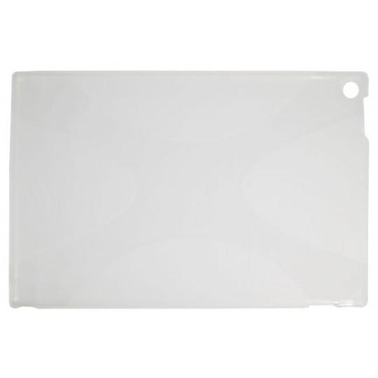 Sony Xperia Tablet Z - Gumiran ovitek (TPU) - belo-prosojen SLine