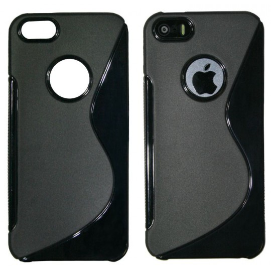 Apple iPhone 5/5S/SE - Gumiran ovitek (TPU) - črn SLine