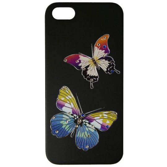 Apple iPhone 5/5S/SE - Okrasni pokrovček (30) - AW 2 metuljčka