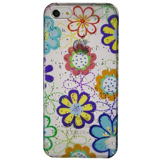 Apple iPhone 5/5S/SE - Okrasni pokrovček (32) - Manjše barvne rože