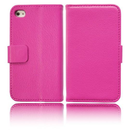 Apple iPhone 4/4S - Preklopna torbica (WL) - roza
