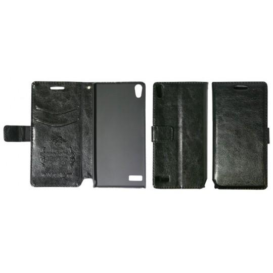Huawei Ascend P6 - Preklopna torbica (WL) - črna