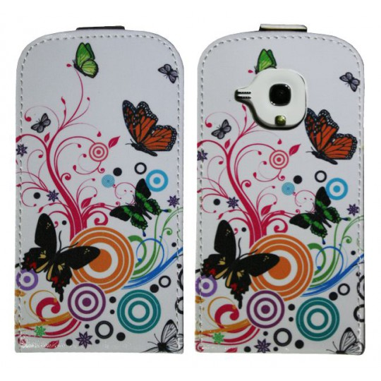 Samsung Galaxy S3 Mini - Preklopna torbica (40) - Colorfull butterflys