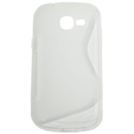 Samsung Galaxy Trend Lite - Gumiran ovitek (TPU) - belo-prosojen SLine