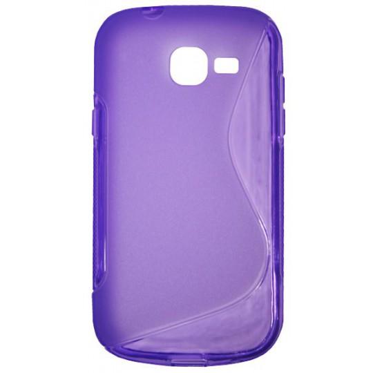 Samsung Galaxy Trend Lite - Gumiran ovitek (TPU) - vijolično-prosojen SLine