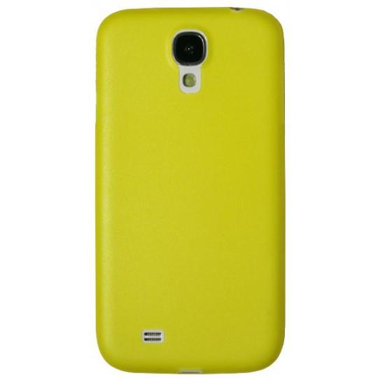 Samsung Galaxy S4 - Okrasni pokrovček (19) - rumeno-prosojen