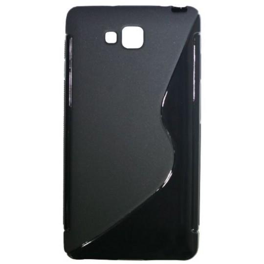 LG Optimus L9 II - Gumiran ovitek (TPU) - črn SLine