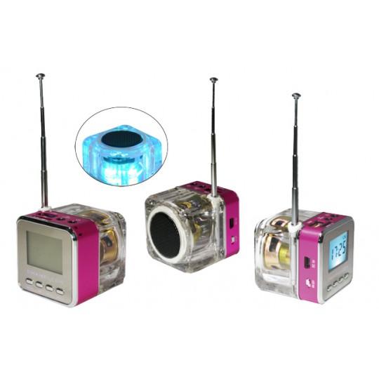 Multifunkcijski zvočnik MP3 (TT028) - roza