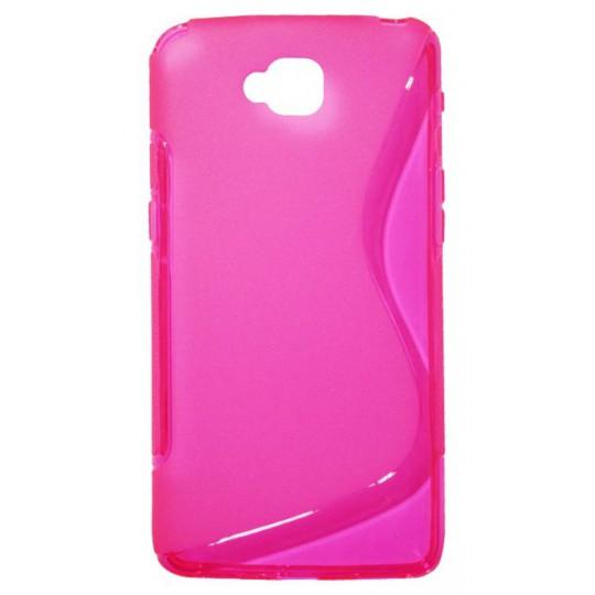 LG G Pro Lite - Gumiran ovitek (TPU) - roza-prosojen SLine