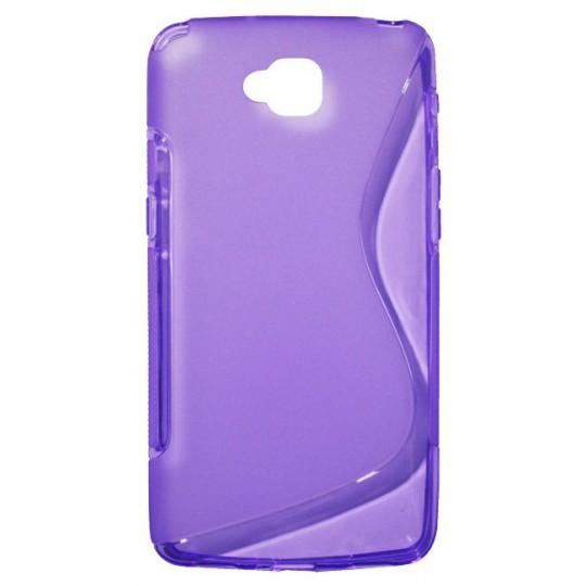 LG G Pro Lite - Gumiran ovitek (TPU) - vijolično-prosojen SLine