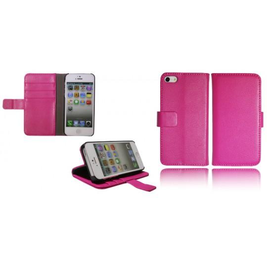 Apple iPhone 5/5S/SE - Preklopna torbica (WL) - roza