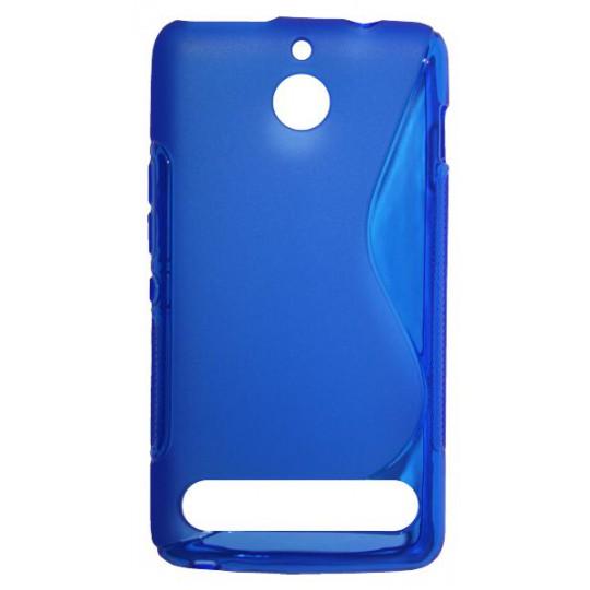 Sony Xperia E1 - Gumiran ovitek (TPU) - modro-prosojen SLine
