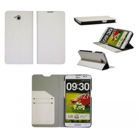 LG G Pro Lite - Preklopna torbica (HT) - bela