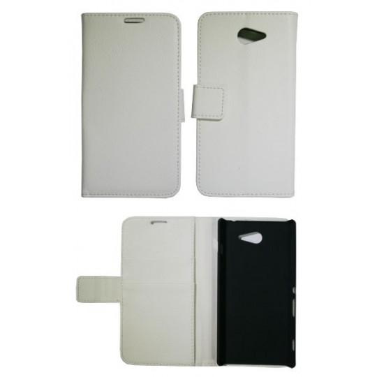 Sony Xperia M2 - Preklopna torbica (WL) - bela