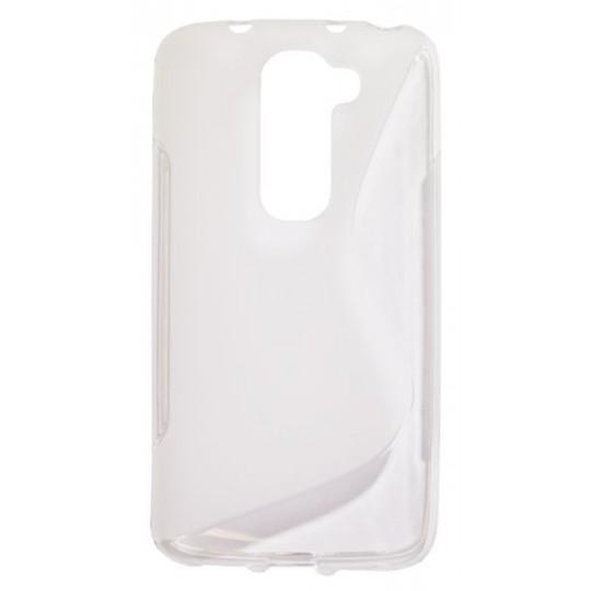 LG G2 mini - Gumiran ovitek (TPU) - belo-prosojen SLine