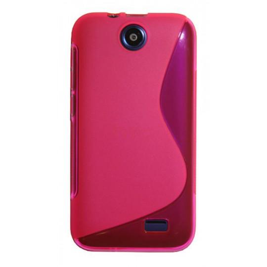 HTC Desire 310 - Gumiran ovitek (TPU) - roza-prosojen SLine