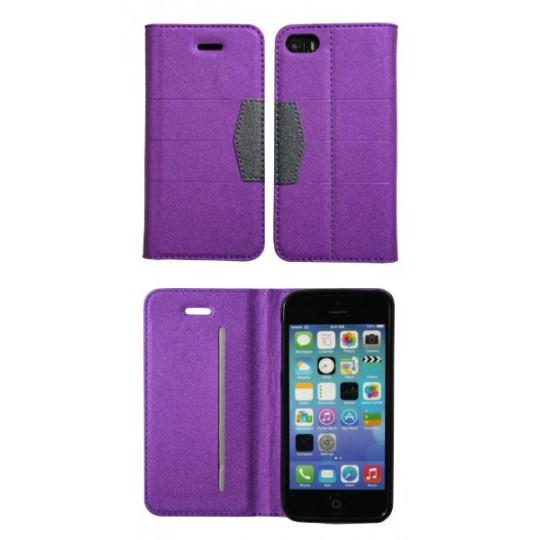 Apple iPhone 5/5S/SE - Preklopna torbica (47G) - vijolična