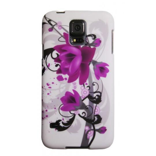 Samsung Galaxy S5/S5 Neo - Gumiran ovitek (TPUP) - Water lily