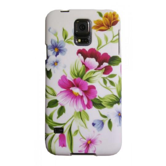Samsung Galaxy S5/S5 Neo - Gumiran ovitek (TPUP) - Pink garden