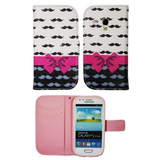 Samsung Galaxy S3 Mini - Preklopna torbica (WLGP) - Mustache