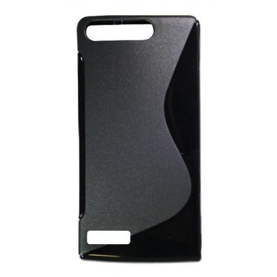 Huawei Ascend G6 - Gumiran ovitek (TPU) - črn SLine