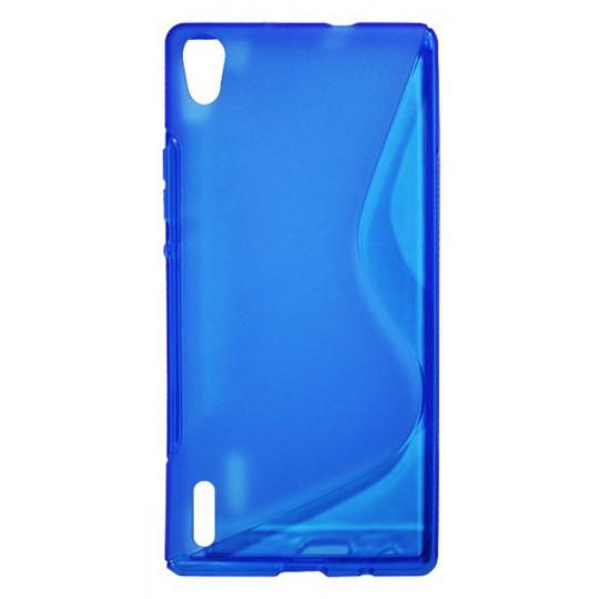 Huawei Ascend P7 - Gumiran ovitek (TPU) - modro-prosojen SLine