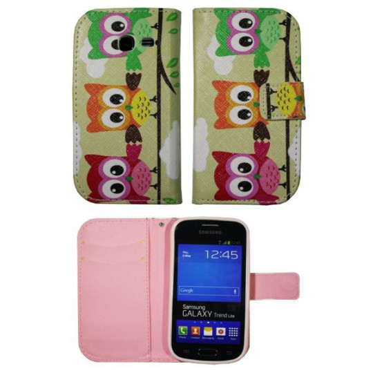 Samsung Galaxy Trend Lite - Preklopna torbica (WLGP) - Owls