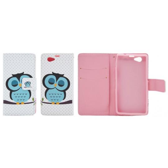 Sony Xperia Z1 Compact - Preklopna torbica (WLGP) - Blue owl