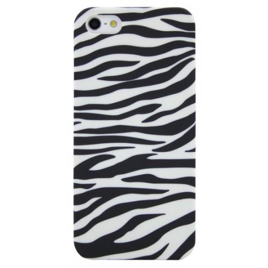 Apple iPhone 5/5S/SE - Gumiran ovitek (TPUP) - Zebra