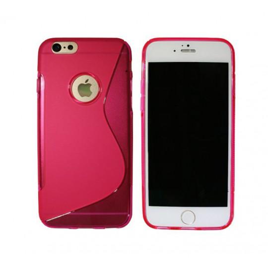 Apple iPhone 6/6S - Gumiran ovitek (TPU) - roza-prosojen SLine