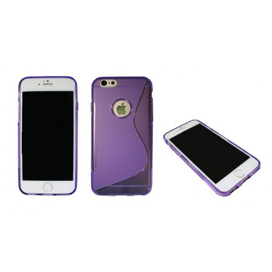 Apple iPhone 6/6S - Gumiran ovitek (TPU) - vijolično-prosojen SLine