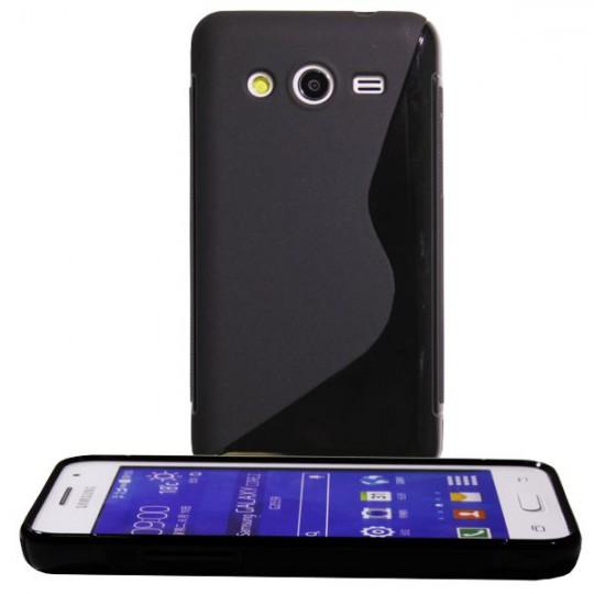 Samsung Galaxy Core 2 - Gumiran ovitek (TPU) - črn SLine