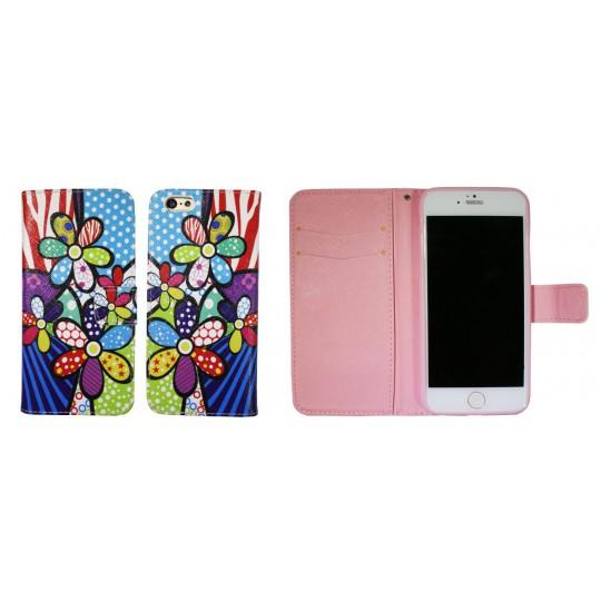 Apple iPhone 6/6S - Preklopna torbica (WLGP) - Colorful flowers