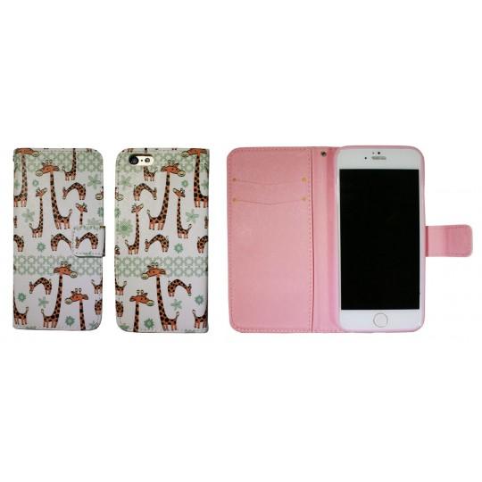 Apple iPhone 6/6S - Preklopna torbica (WLGP) - Giraffe
