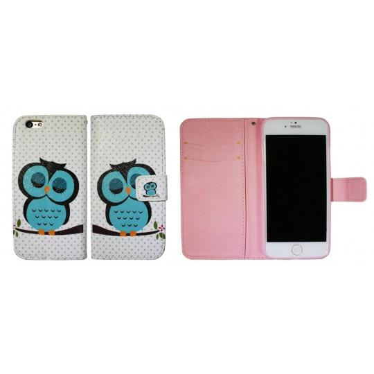 Apple iPhone 6/6S - Preklopna torbica (WLGP) - Blue owl