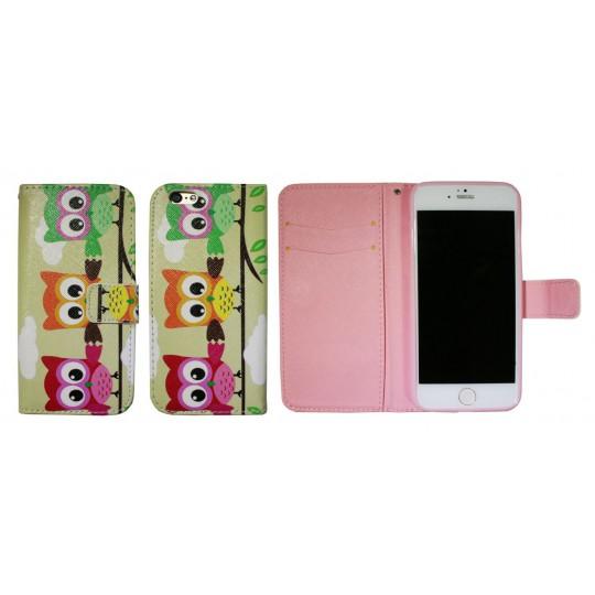 Apple iPhone 6/6S - Preklopna torbica (WLGP) - Owls