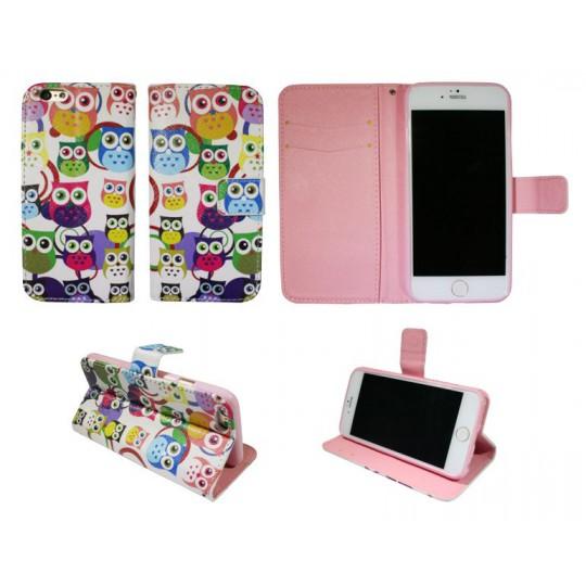 Apple iPhone 6/6S - Preklopna torbica (WLGP) - Colorful owls