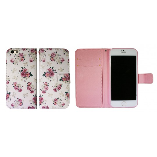Apple iPhone 6/6S - Preklopna torbica (WLGP) - Flowers