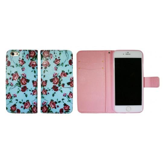 Apple iPhone 6/6S - Preklopna torbica (WLGP) - Blue flowers