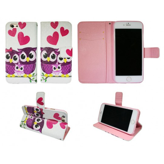 Apple iPhone 6/6S - Preklopna torbica (WLGP) - Owls in love