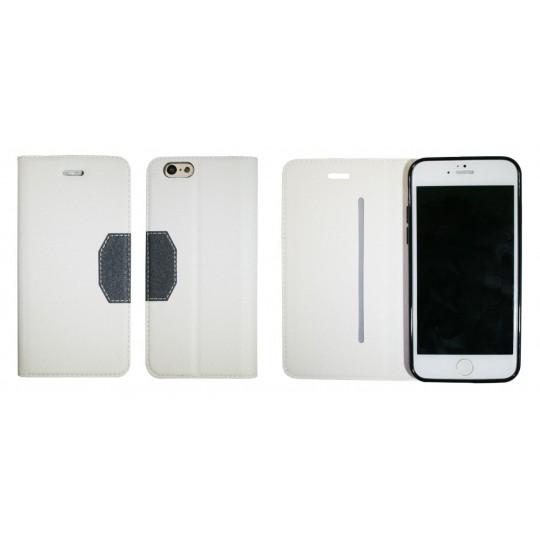 Apple iPhone 6/6S - Preklopna torbica (47G) - bela