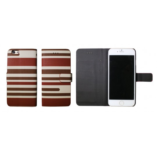 Apple iPhone 6/6S - Preklopna torbica (61) - Lines dark and light